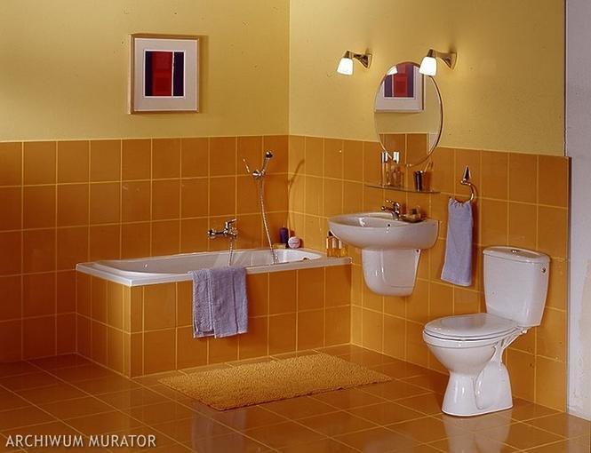 Łazienka w kolorze żółtym