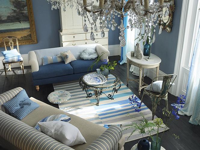 Niebieski salon: wszystkie odcienie błękitu