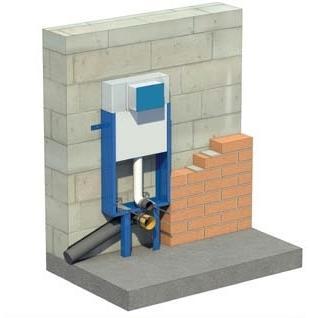 Montaż stelaża do zabudowy ciężkiej - podłączenie boczne