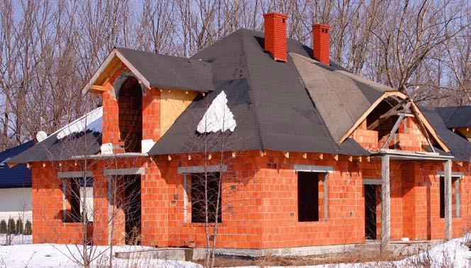 Poszycie dachu może zimować