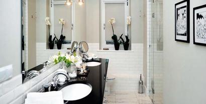 Metamorfoza łazienki - modne wnętrze w stylu retro w miejscu zagraconego składziku