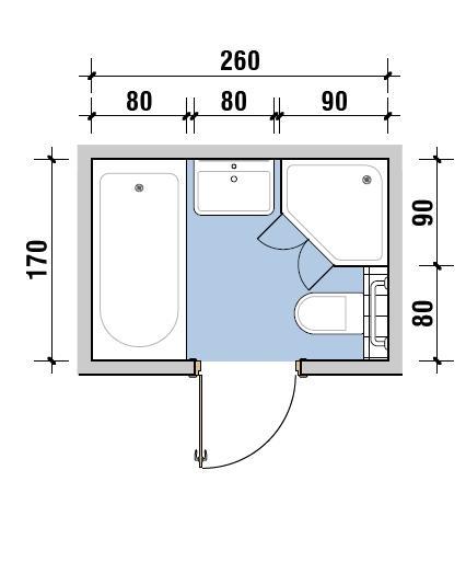 Mała łazienka. Jak w niej zmieścić wannę i prysznic